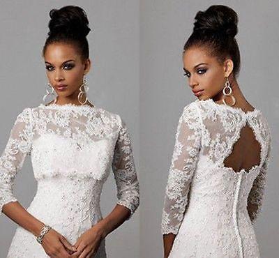 4 Typ Spitze Braut Bolero Jacke Jäckchen zum Hochzeiter Brautkleider