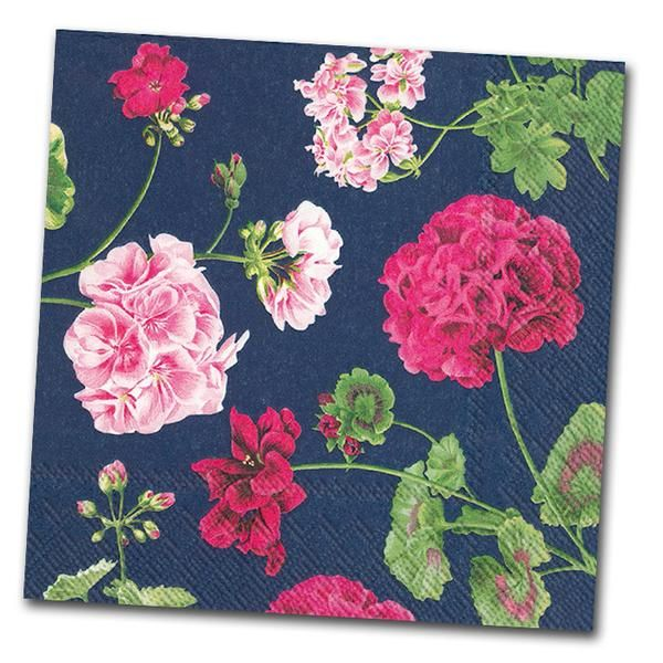10 best floral paper napkins images on pinterest paper napkins geraldine blue floral paper napkins luncheon mightylinksfo