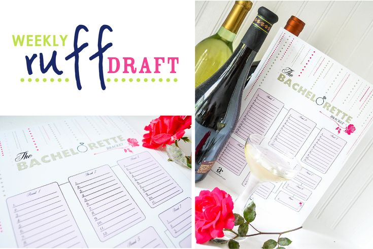 Bachelorette Bracket FREE PRINTABLE card to guess who wins each round of the Bachelorette show - use for a girls viewing party and have fun with your friends. Girls night!