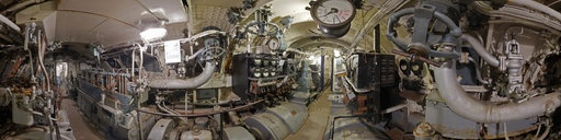 nazi submarine, engine room