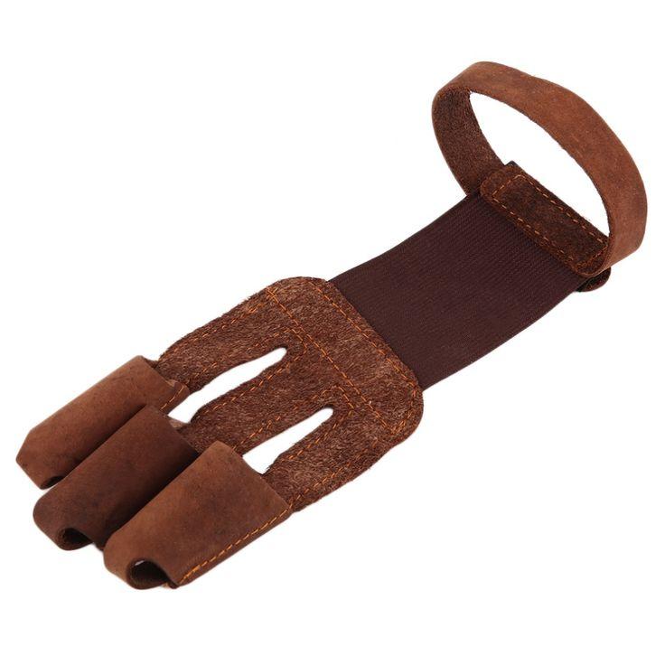 Защиты Перчатки 3 Пальцев Тянуть Лук стрелка стрельба из лука Кожа Съемки…