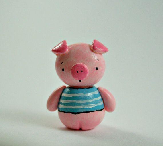 Polymer clay pig