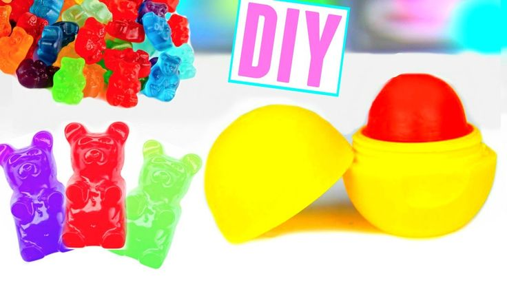 DIY EOS made out of gummy bears! Can we get this to 1k likes?! Hey everyone! Today I am back with another lip balm video! This time we are making it with gum...