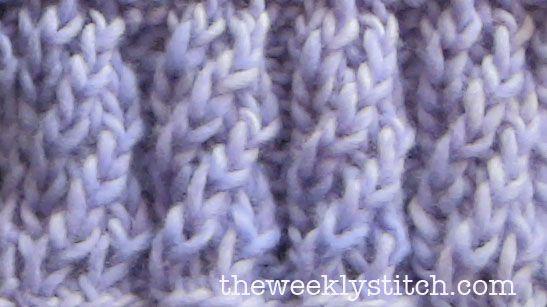 Spiral Rib   The Weekly Stitch............................... DETALJ