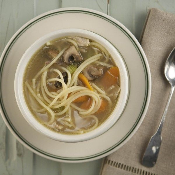 Simple Chicken Noodle Soup I used 16 cups chicken stock and rotisserie chicken. Super easy delicious and soothing