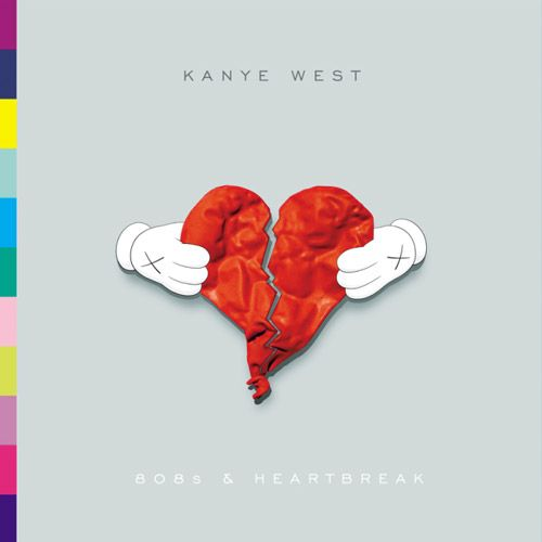 """808's & Heartbreak"". Kayne West. Album art. Art Direction/Design by KAWS."