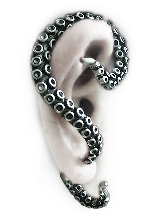 Octopus Tentacle Ear Cuff : Restyle