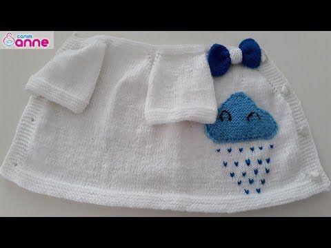 Bebek bulut yeleği yapımı - Baştan sona kadar anlattık - YouTube