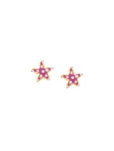 Παιδικά Σκουλαρίκια από Χρυσό 9Κ με Σμάλτο Αναφορά 013658 Παιδικά σκουλαρίκια (αστερίες) από Χρυσό 9Κ σε κίτρινο χρώμα με καρφάκι.Τα στοιχεία είναι στολισμένα με σμάλτο σε χρώμα ροζ και λευκό.
