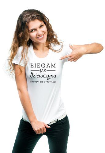 Koszulka Biegam jak dziewczyna