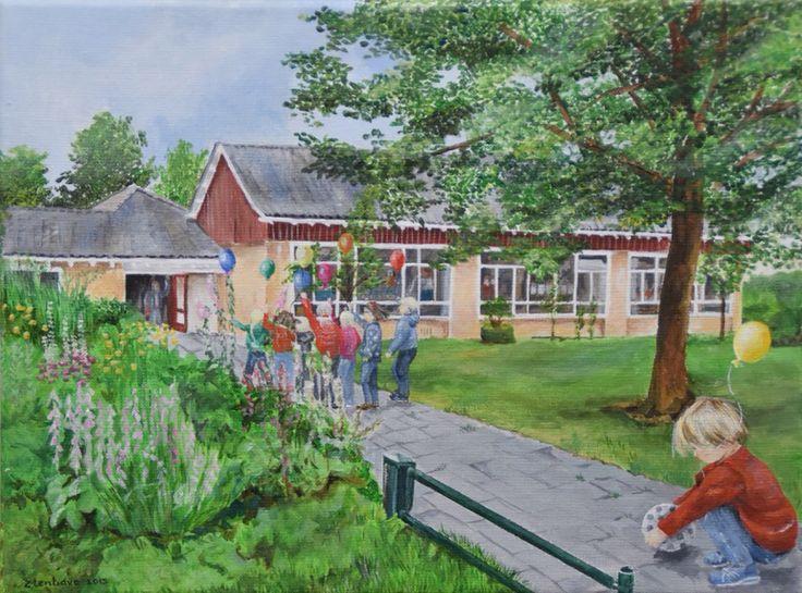 Afscheid juf school Berghuizen (acryl)