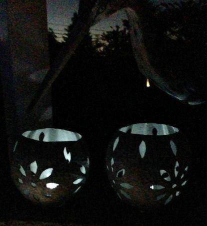 paper mache solar lanterns, crafts, outdoor living