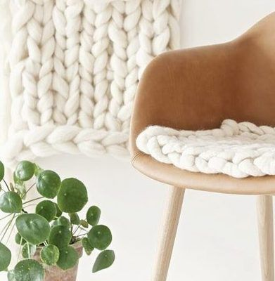 Do you have a great chair that is a little uncomfortable? Then knit yourself a chair cushion. This simple tutorial will show you how to do it.