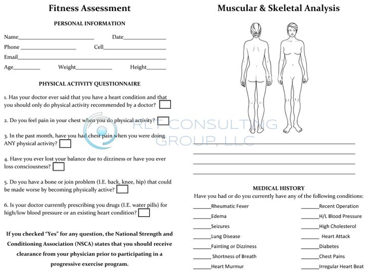 13 best Personal Trainers Forms images on Pinterest Personal - free assessment forms
