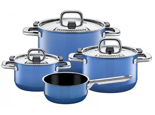 Niebieskie garnki Silit to coraz popularniejszy wzór w ofercie tej niemieckiej marki. Rozchodzą się jak świeże bułeczki :)