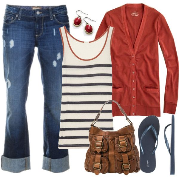 05.11.11, created by m3mom on PolyvoreFashion, Style, Clothing, Red White Blue, 4Th Of July, Comfy Casual, Flip Flops, Fall Outfit, Spring Outfit