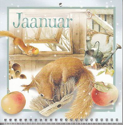 Marjolein Bastin wall calendar, 2017, Nature's Scetchbook