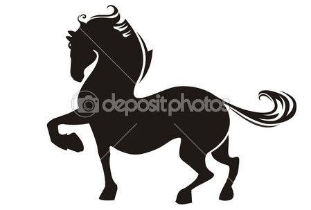 silhouette de cheval — Vecteur #21453841