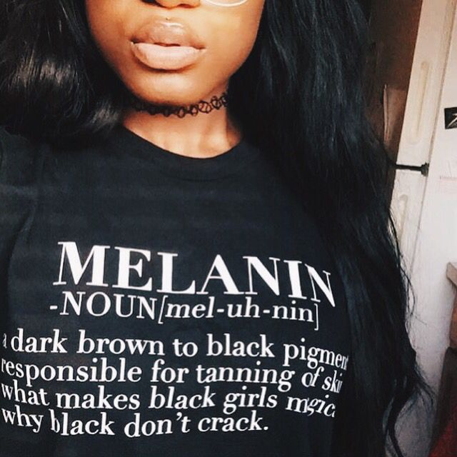 Melanin Babe  tee available at LegendaryRootz.com // @_mmelanin
