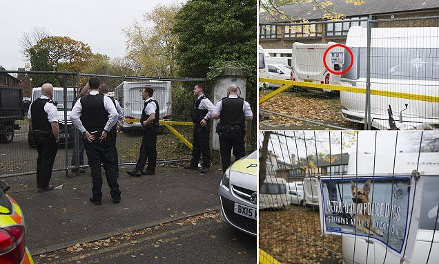 Travellers park caravans at Met Police dog training site #DailyMail