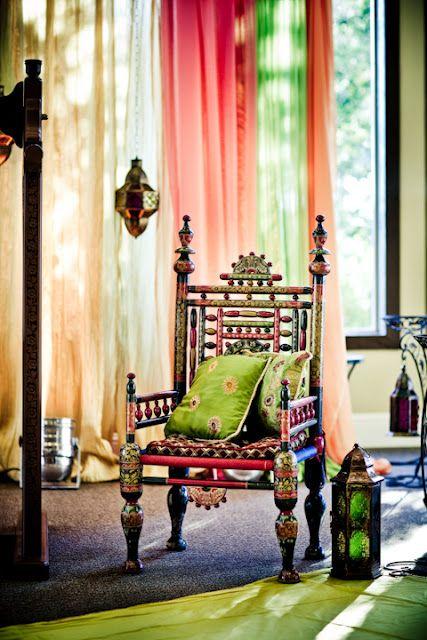 Traditional Chair from Pakistani Wedding Collection ßÿ Ĵűĝŋî's Ĵaŋîa