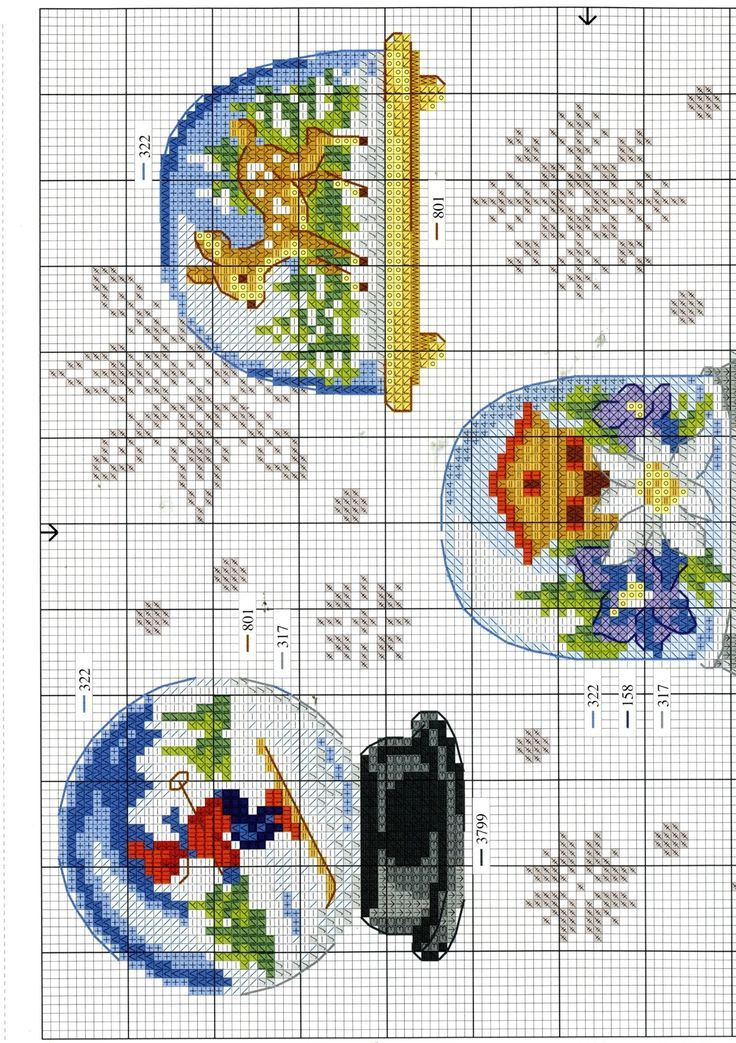 Bildergebnis für cross stitch snow globes