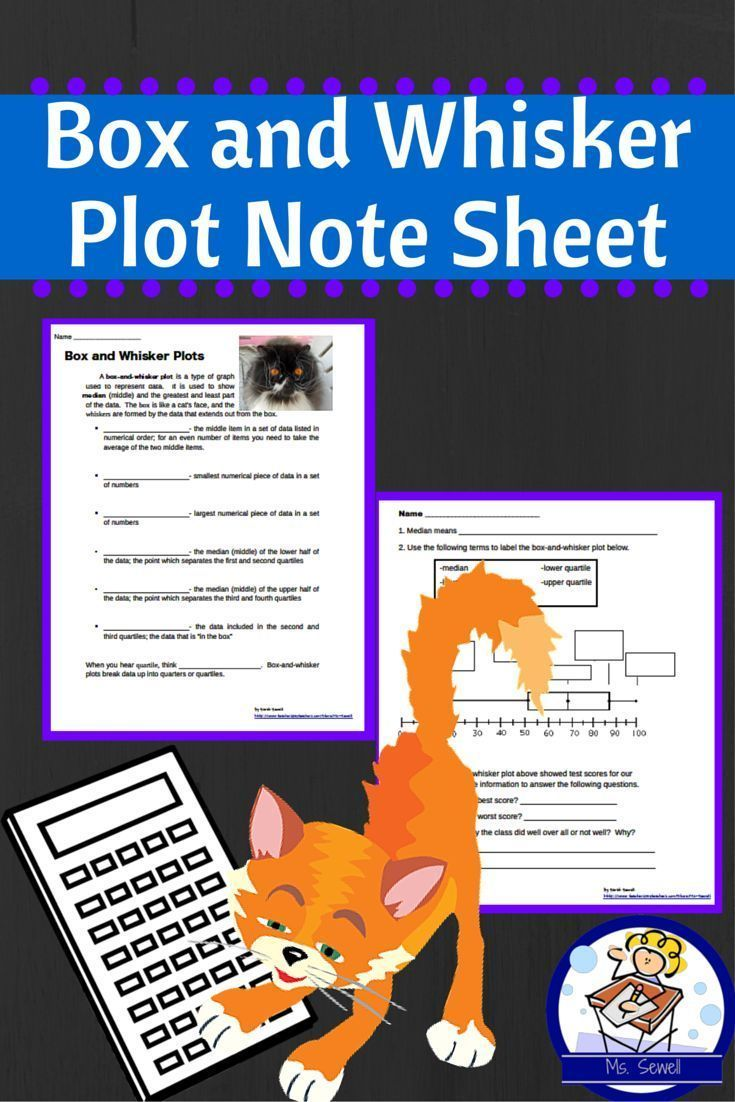 Use This Page For Students To Record The Vocabulary Words Associated With Box And Whisker Plots Including Mean Lowe Quartiles Note Sheet Teaching Third Grade