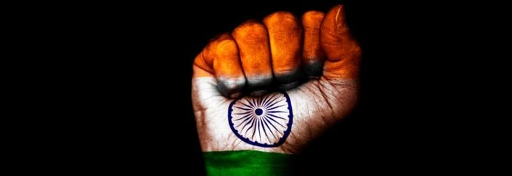 Independence Day, observed annually on 15 August, is a National Holiday in India commemorating the nation's independence from Kingdom of Great Britain on 15 August 1947