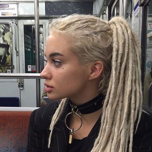 Imagen de girl, blonde, and dreads