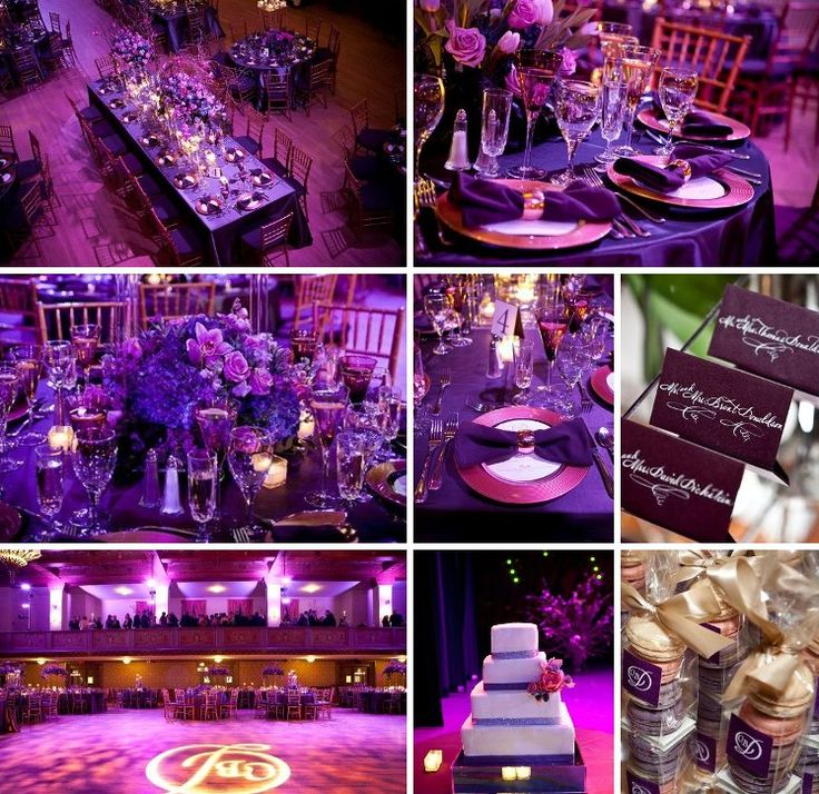 A Spectacular Purple Themed Wedding with Luxurious Details - MODwedding