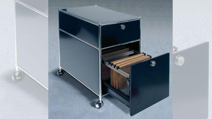 Wickelkommode Aufsatz Ikea Hemnes ~ Metall Rollcontainer mit Teleskop Ausziehschublade für Hängemappen