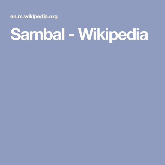 Sambal - Wikipedia