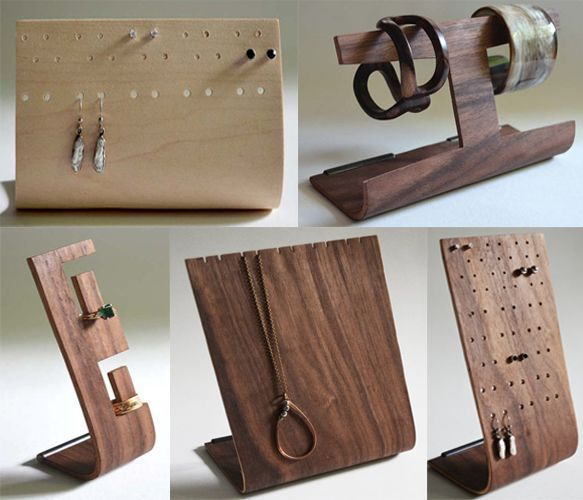Wooden Jewelry Holders - great display fixtures for a craft show