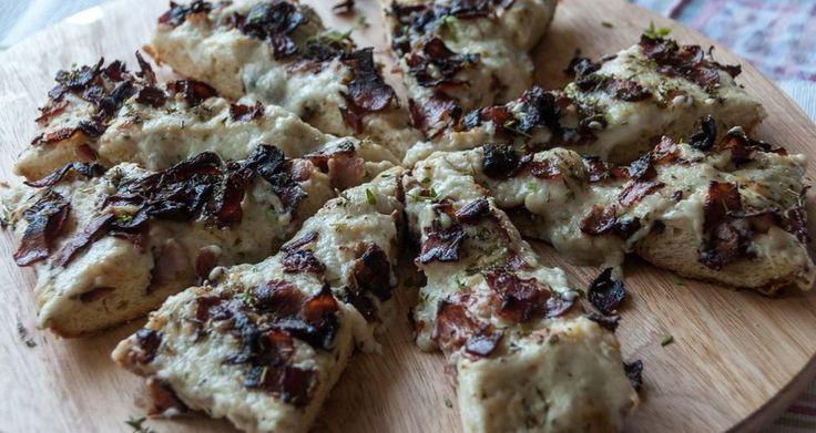 Pizza καρμπονάρα
