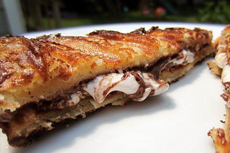 mores Panini recipe. Hawaiian bread + mini marshmellows + nutella ...