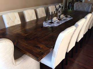 DIY Restoration Hardware style kitchen table for under $200! http://ourbarbiedreamhouse.blogspot.com/2013/09/diy-rustic-dining-room-table-reveal.html