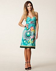 Caroly Dress - Desigual - Turquoise - Dresses - Clothing - NELLY.COM UK
