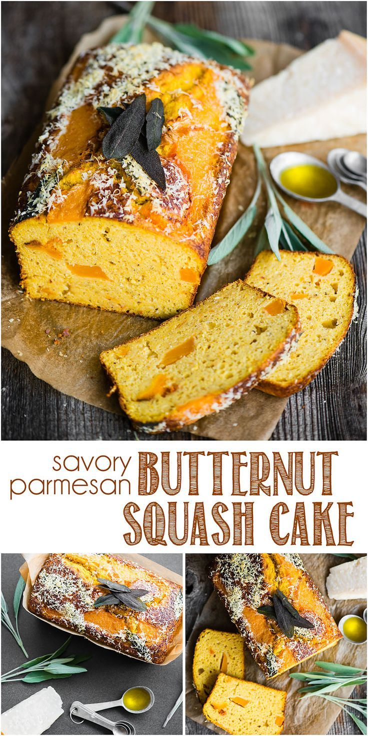 Savory Parmesan Butternut Squash Cake Is Made With Roasted