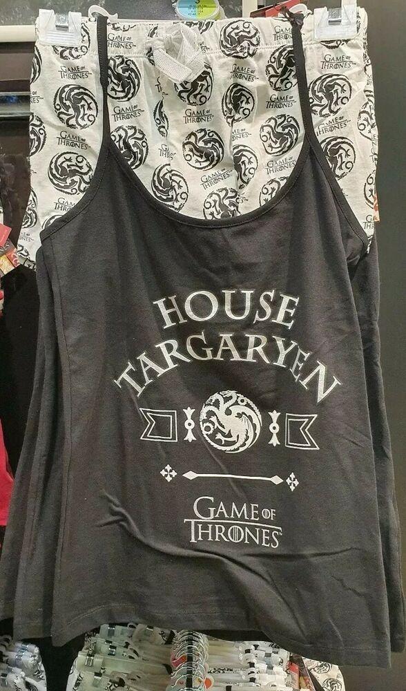 Ebay Ad Primark Game Of Thrones House Targaryen Black Ladies Cami Pyjama Set Nightwear Cami Pajama Sets Pajama Set Primark