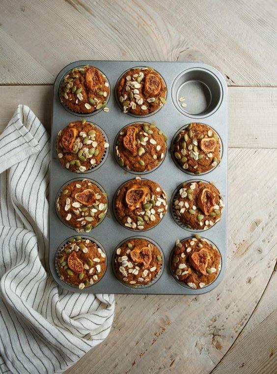 Recette de Ricardo de muffins-déjeuner aux patates douces