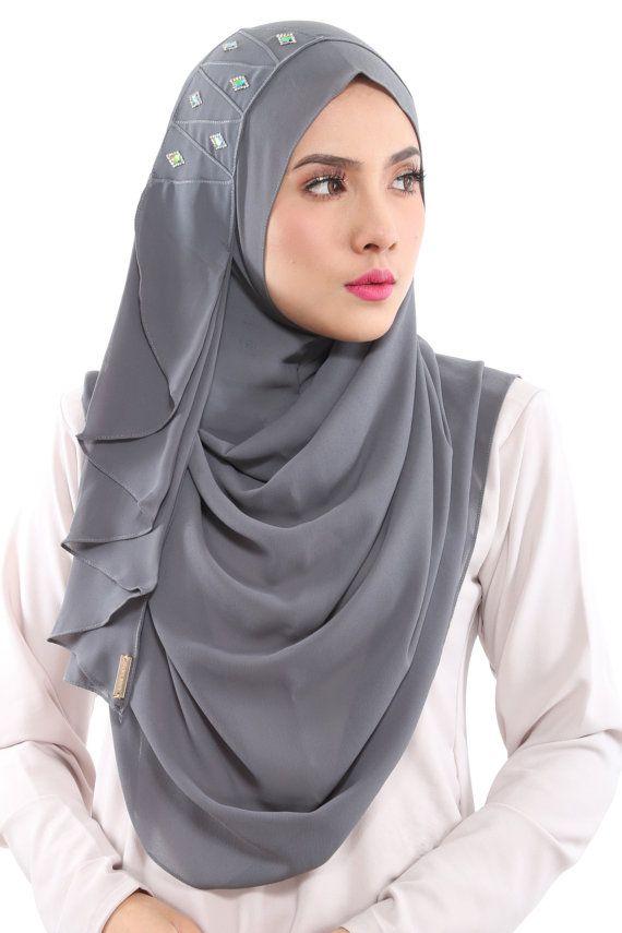 Instant HIjab/Slip On AMIRAH Aida Naim Instant Shawl By by clixy
