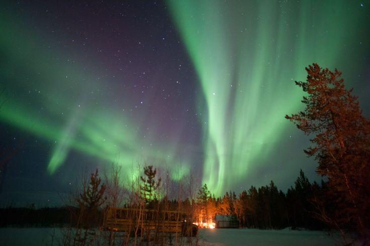 Northern lights Yukon Territory