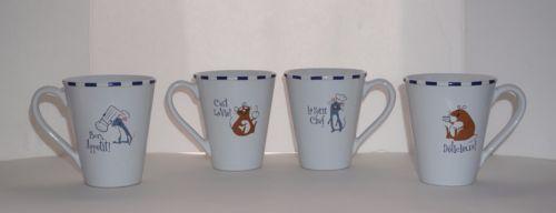 Disney-Pixar-Set-4-Ratatouille-Remy-Emile-French-Rat-Mouse-Coffee-Mug-Tea-Cup