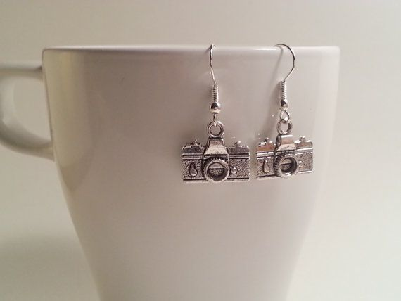 Small camera charm earrings by HadesLadies on Etsy