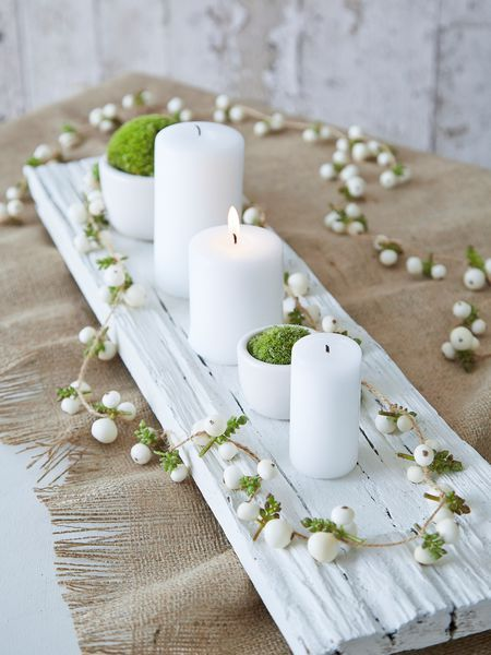 faux snowberry garland - nordic house - simple but stunningly beautiful