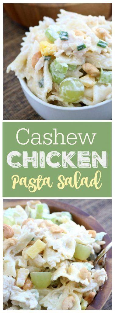 Cashew Chicken Pasta Salad