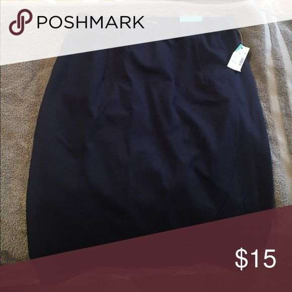 Navy Blue Pencil Skirt Size medium, never worn, Maurices navy blue pencil skirt Maurices Skirts Pencil