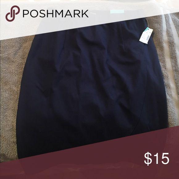 Navy Blue Pencil Skirt Size medium, never worn, Maurices navy blue pencil skirt Maurices Skirts Pencil