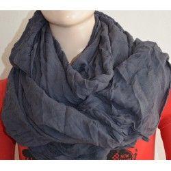Bershka dámský šátek tmavě šedý univerzální; scarf gray
