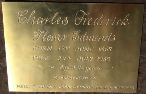 cedmonds67 originally shared this 05 Mar 2016 Headstone  Grave plaque for Charles Frederick Flower Edmonds. Installed Diamond Creek Cemetery 3/3/2016 after unmarked grave identified. 3 Mar 2016 Australia